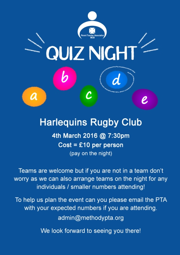 Quiz Night Flyer - 2016 -  sml